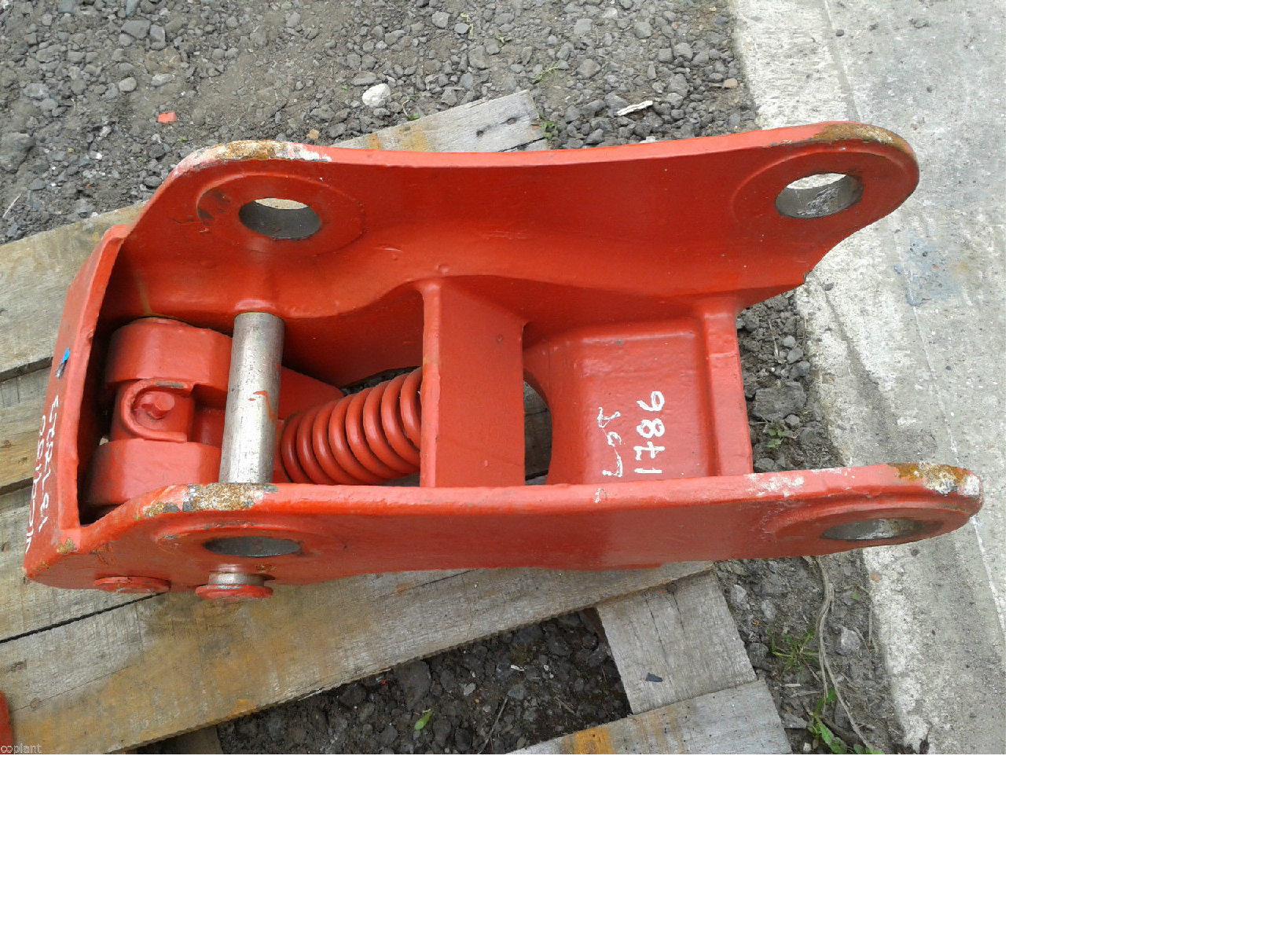 Quick Hitch Pin : Volvo bl excavator mini digger quick hitch coplant