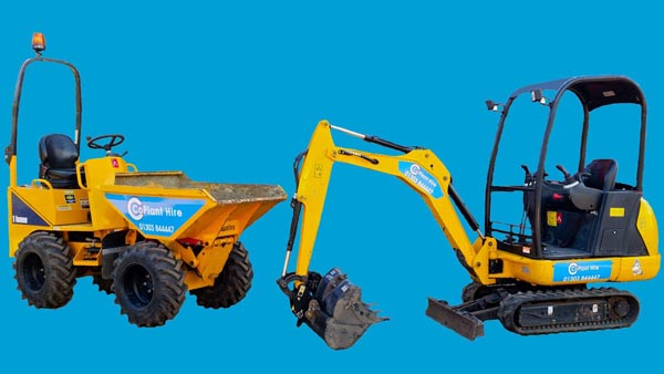 CoPlant Hire 1 ton dumper and 1.5 ton digger
