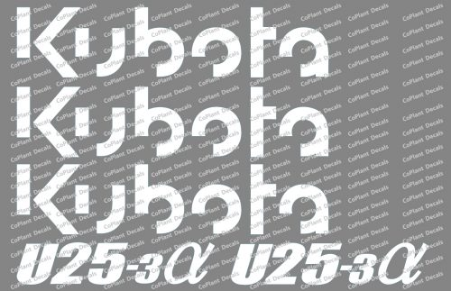 kubota u25-3a decals