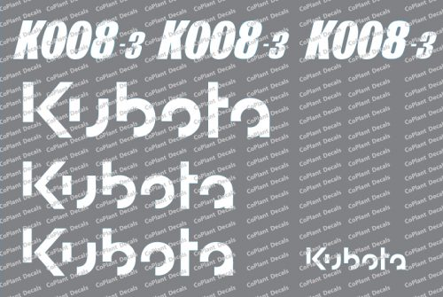 Kubota K008 Decals