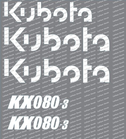 Kubota KX080-3 Decals