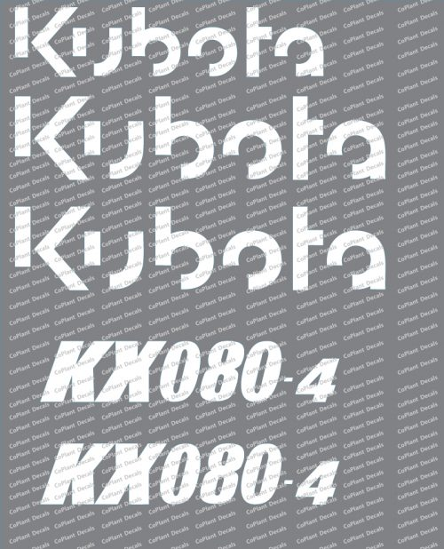Kubota KX080-4 Decals