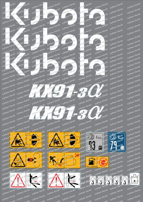 Kubota 91-3a Decals