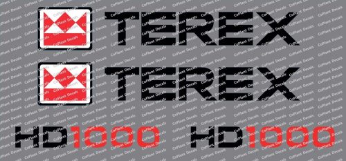 Terex HD1000 Decals