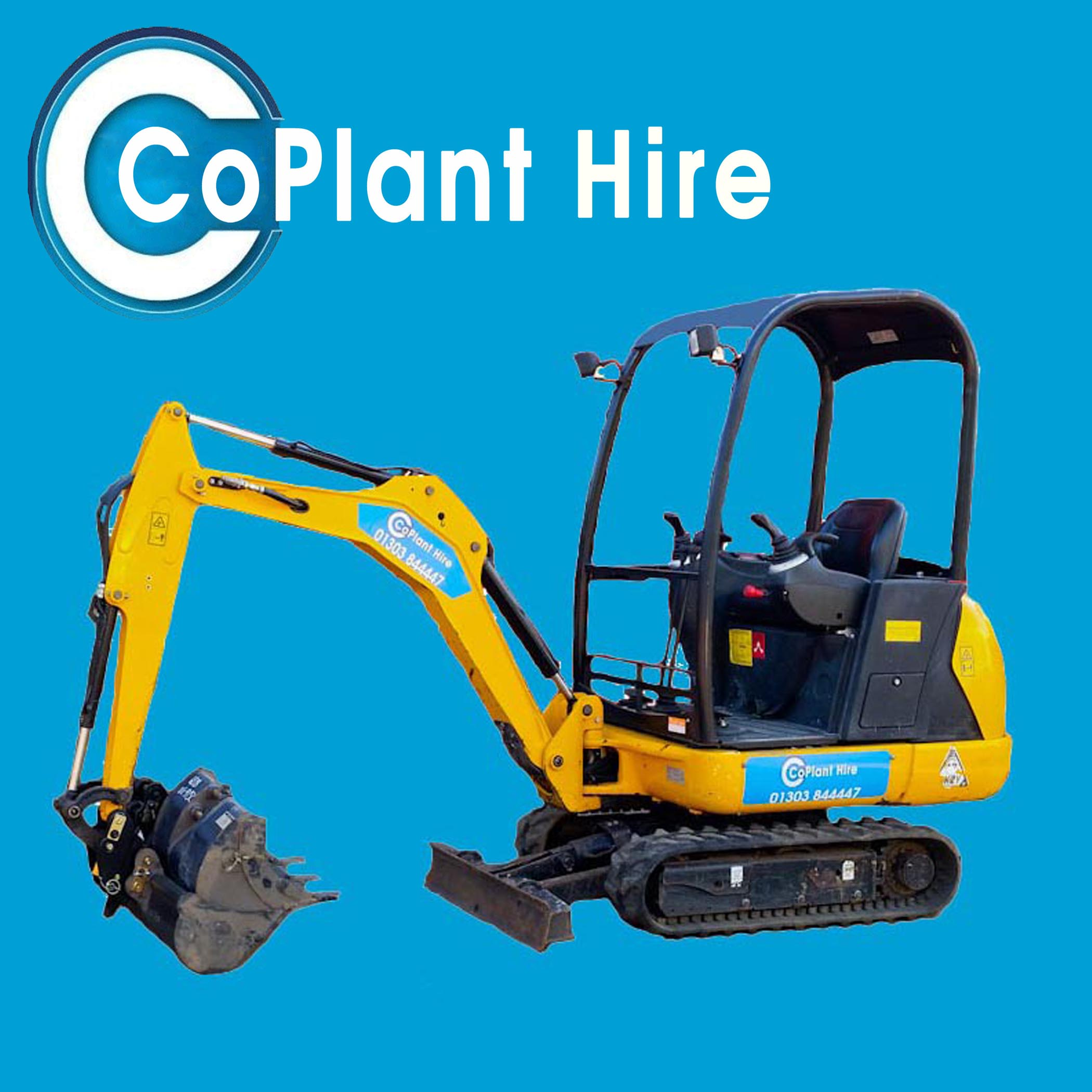 1.5 ton mini digger for hire in kent
