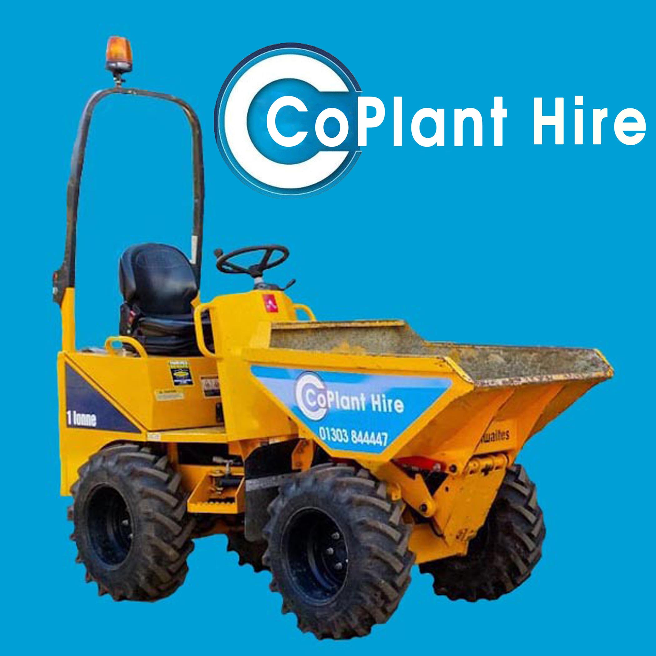 1 ton skip loading dumper for hire