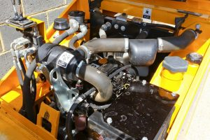 Engine inspection of Thwaites 1 ton dumper